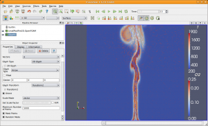 Simulation of Burning Methane, GUI is Paraview